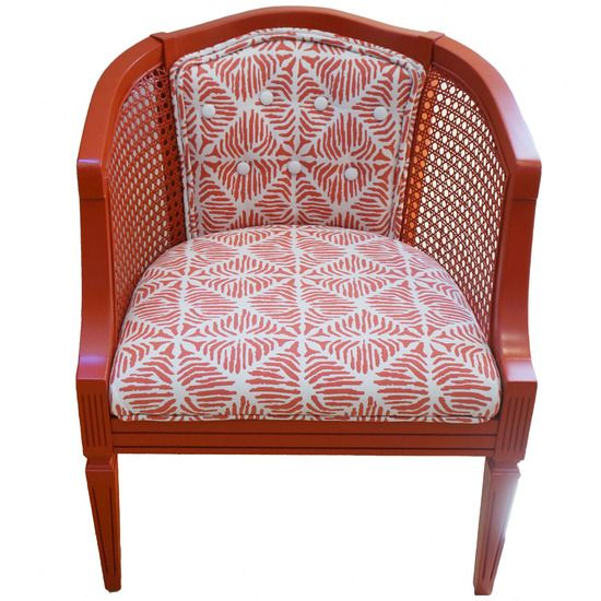 Vintage Classic Cane Barrel Chair #huntersalley