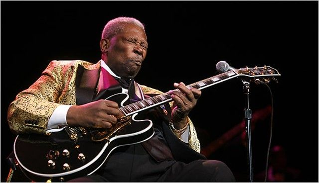 B B King With One Of The Famous Lucilles Reminder Never
