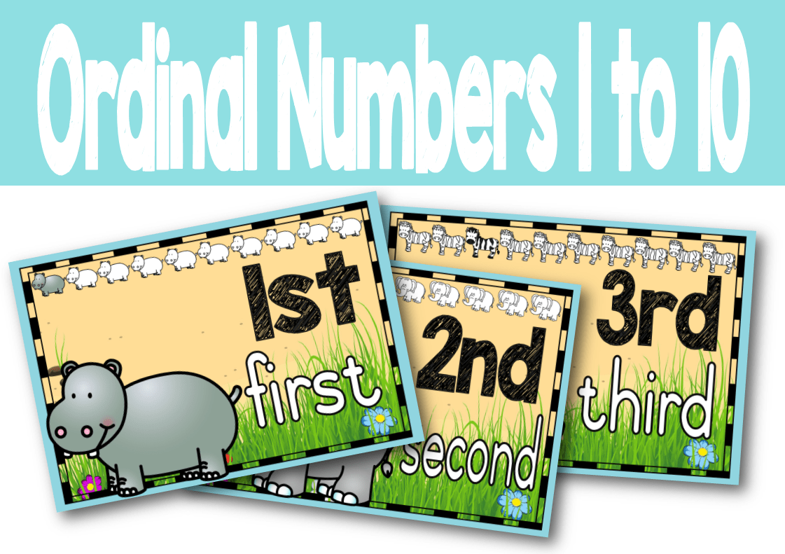 Ordinal Numbers 1 To 10