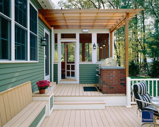Half Exposed Porch Half Enclosed Porch Patio Multi Level Deck