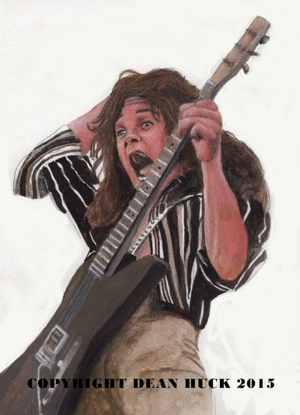 Eddie Van Halen - original mixed media