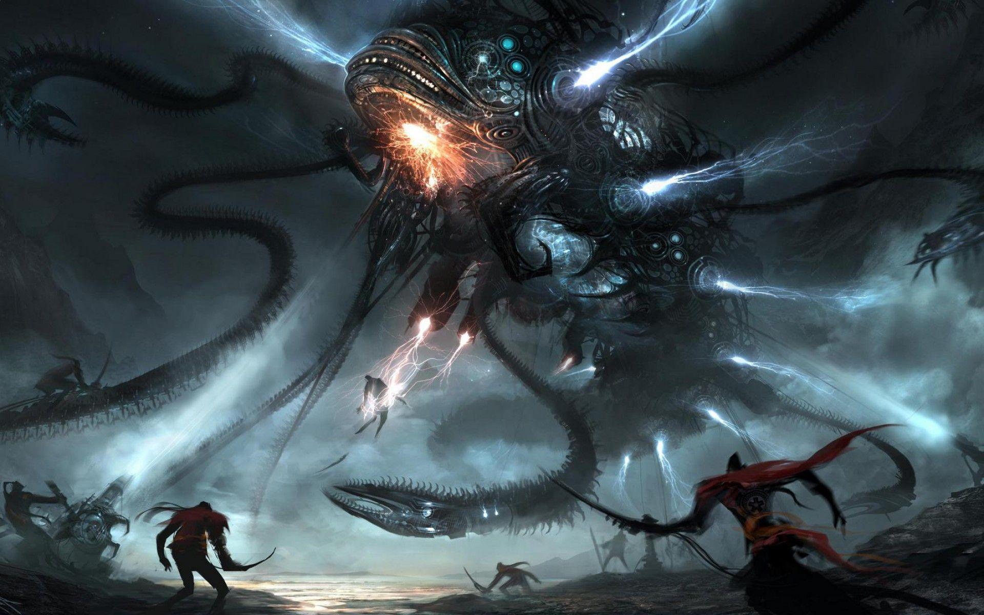 Giant Monster Wallpaper Part 4 Album On Imgur Dark Fantasy Art Fantasy Art Art