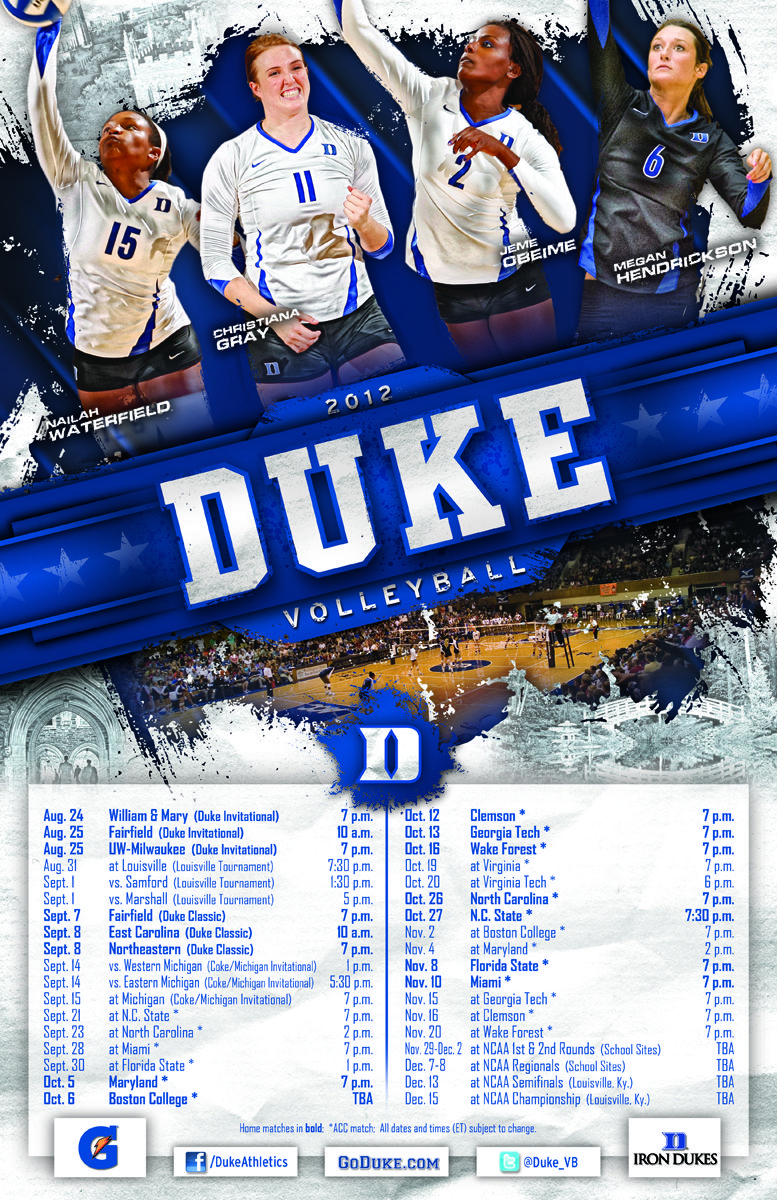 2012 Duke Volleyball Poster