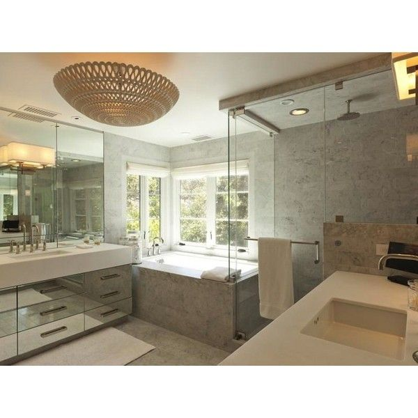 Bathrooms Oly Studio Pipa Bowl Chandelier Twin Mirrored Bathroom Found On Polyvore
