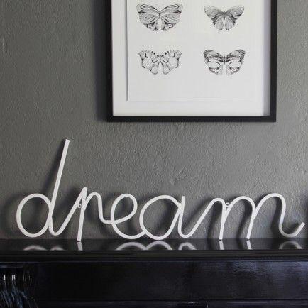 Big Dream Sign (white)