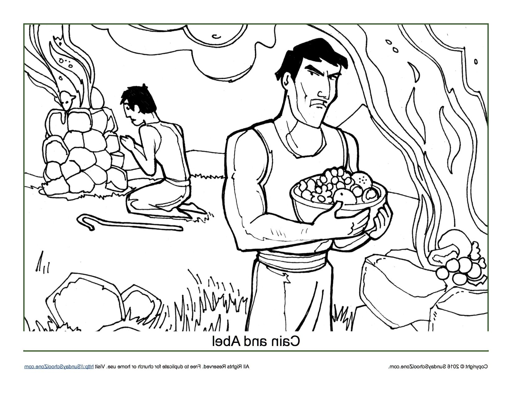 Cain And Abel Coloring Page Cain And Abel Bible Coloring Pages Bible Coloring