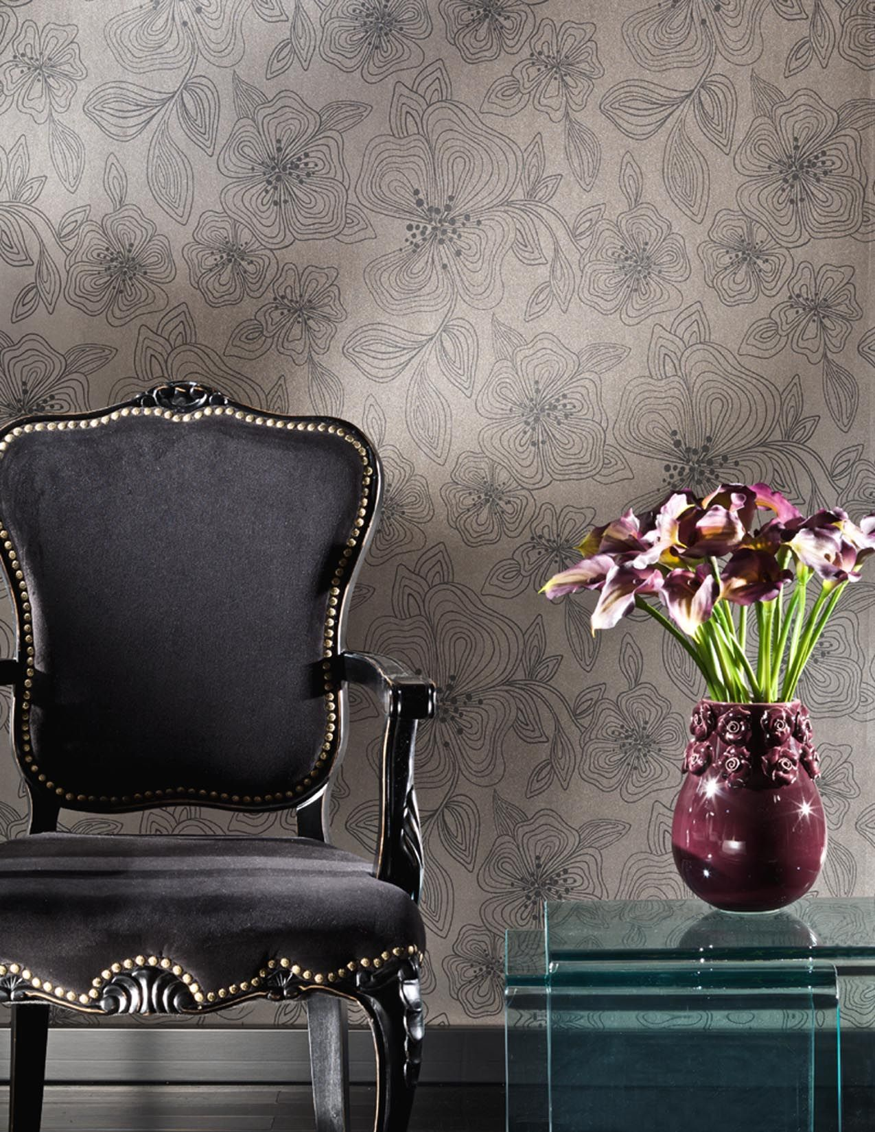 Flirt Wallcovering by Stacy Garcia for York Contract Color: SG2313 Wink Wallpaper Ideas, Backdrop