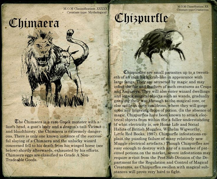chimaera and chipurfle | lost in hogwarts | Pinterest ...