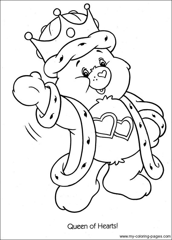care bears coloring pages to print Care Bears Baseball Home Run
