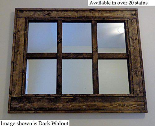 reclaimed wood mirror window mirror style mirror 6 pane mirror large wall mirror