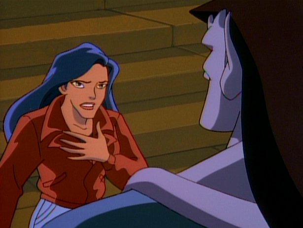 Elisa talking to Goliath & that she doesn't want to lose him if he's going after David Xanatos.
