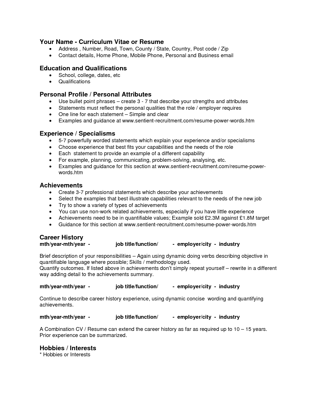 Qualities Resume examples, Job resume examples