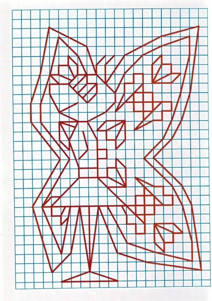 через прикольные рисунки на листе в клетку это для того