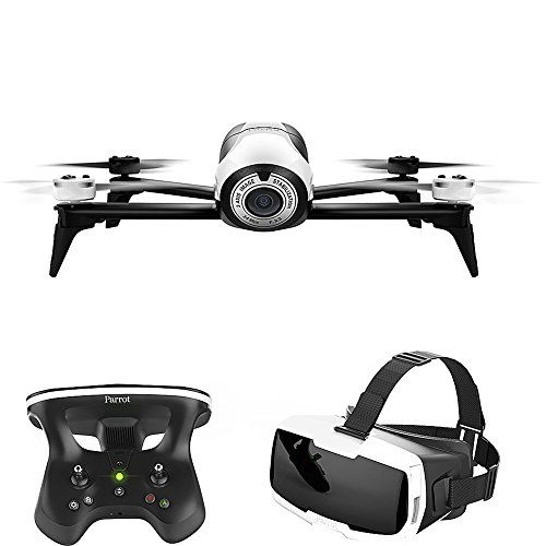 VR DRONE EXPERIENCE Cockpit Glasses For FPV With Smartphone Sky Controller 2 Joystick