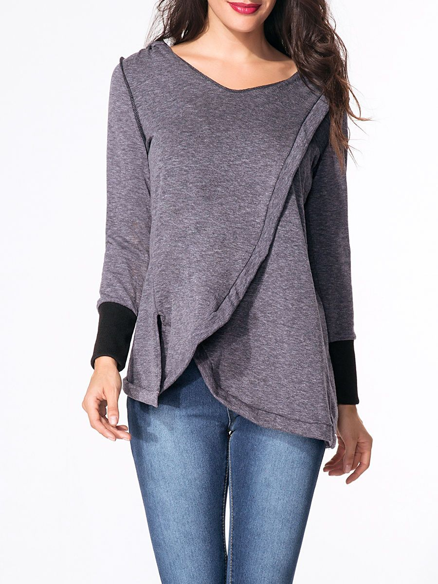 Hooded Plain Vented Loose Fitting Hoody Only $32.95 USD More info...