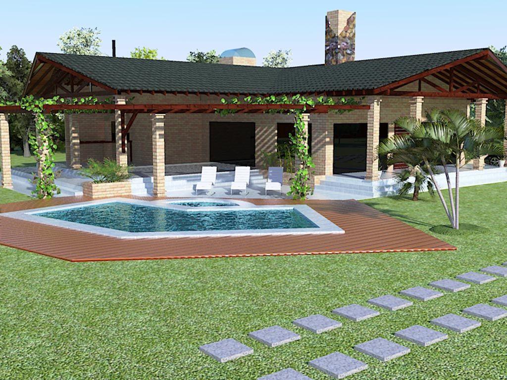 Resultado de imagen para casas de campo chilenas for Diseno de piscinas para casas de campo