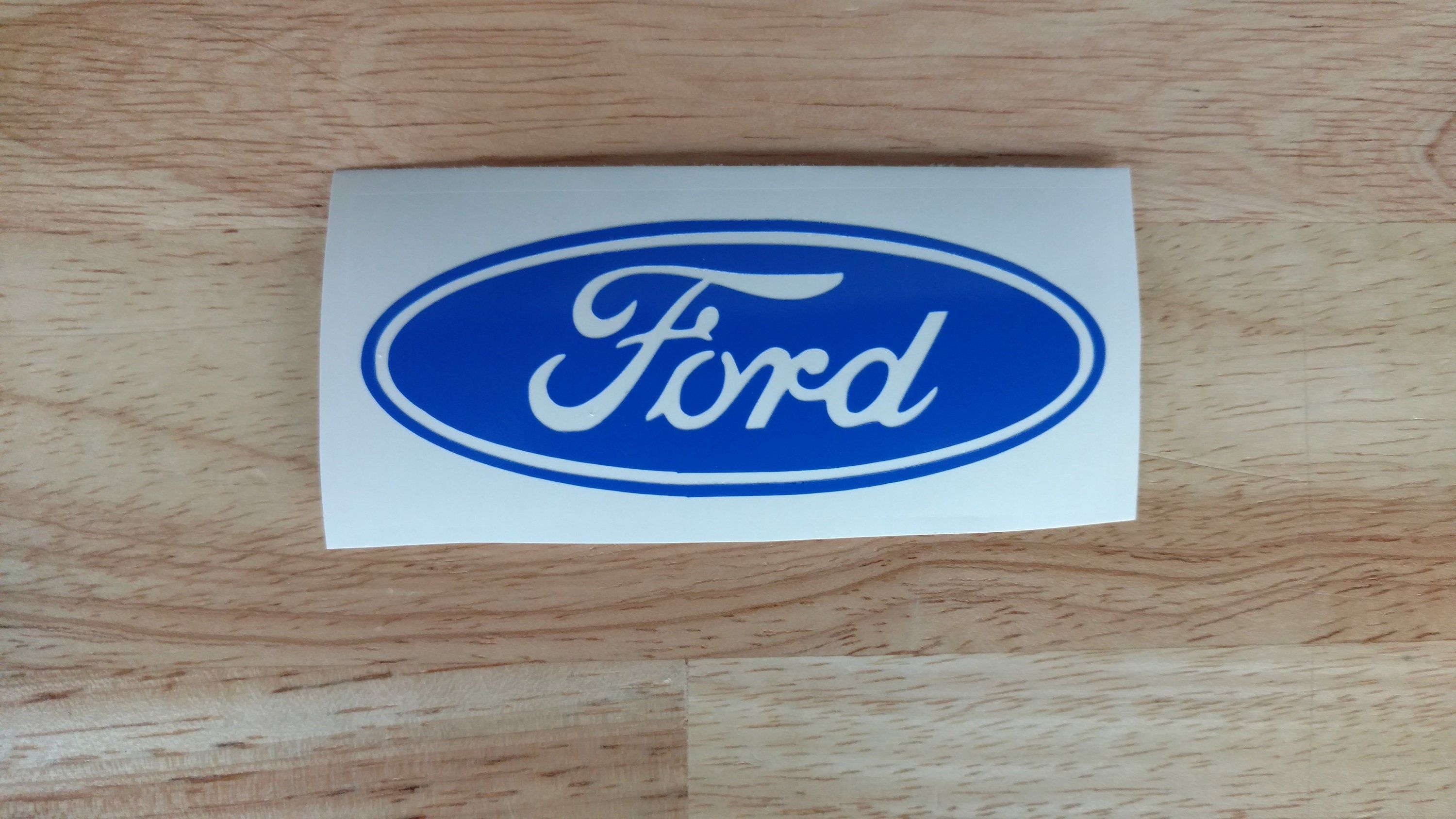 Ford Logo Kayak Fishing Vinyl Decal 14 Colors 15 Sizes To Choose