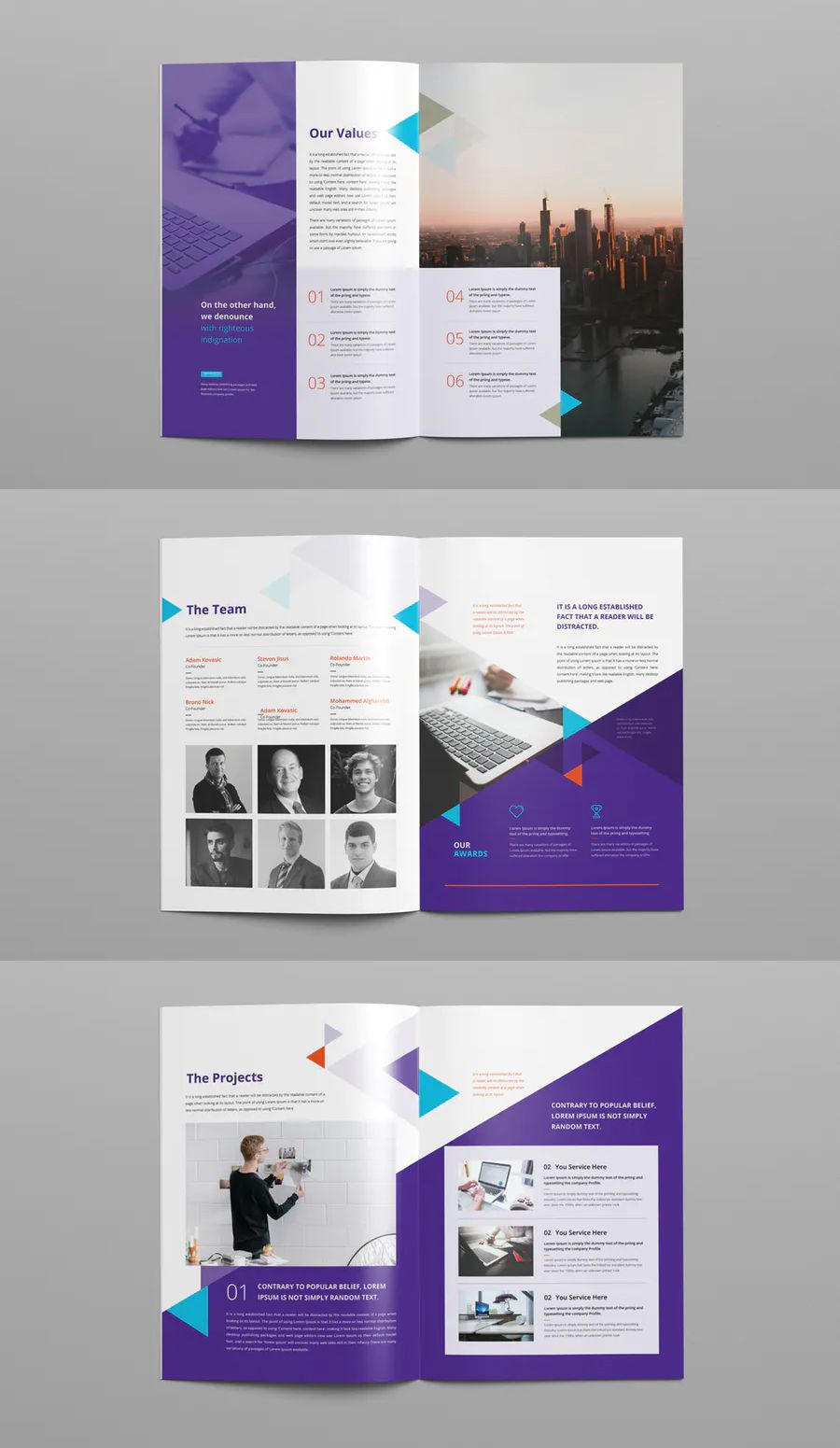 Company Profile Brochure Template This Indesign Brochure Is Clean