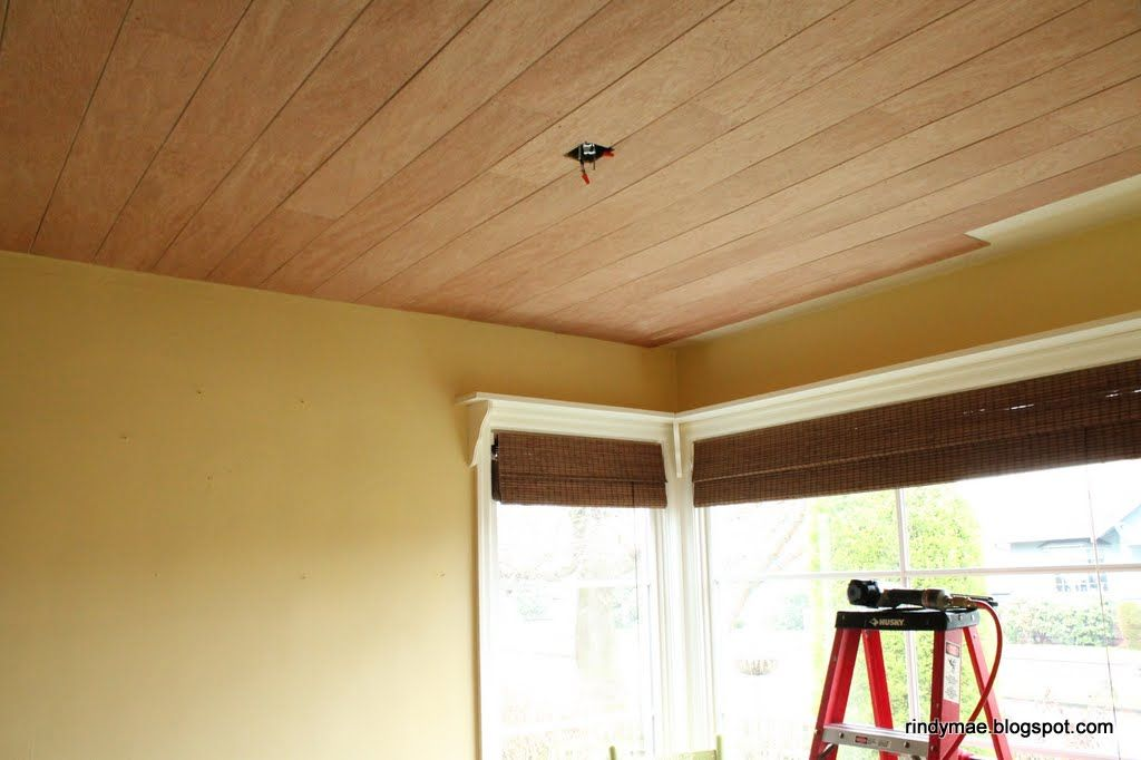 DIY Planked Ceiling:  In Progress