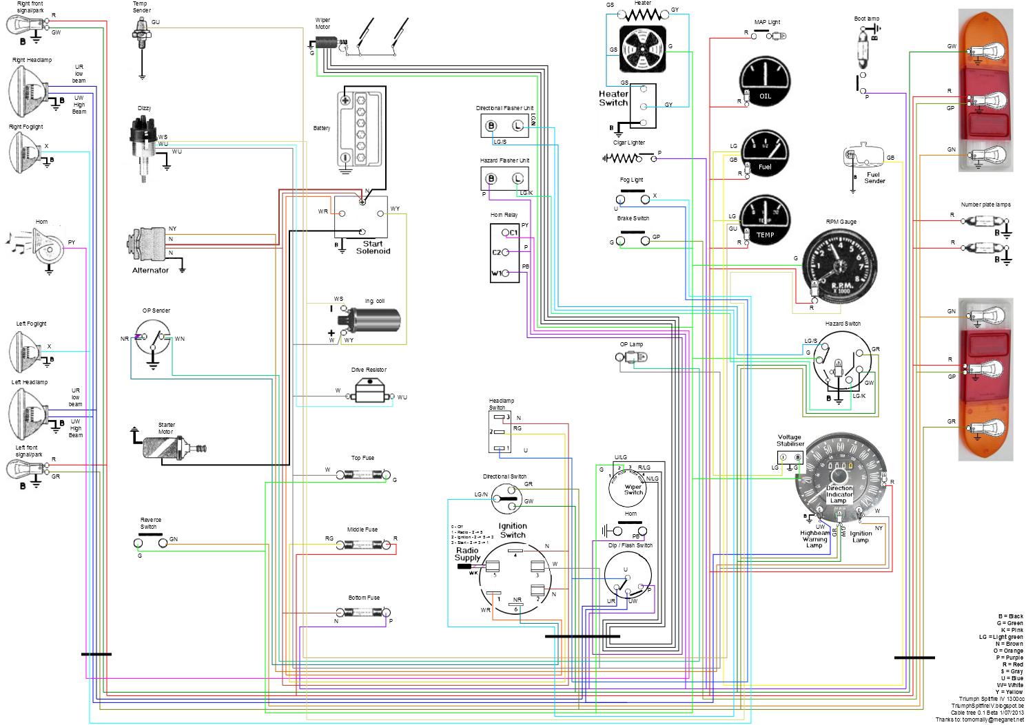 spitfire wiring diagram wiring diagram img color wiring diagram for 1977 triumph spitfire wiring diagram expert [ 1489 x 1053 Pixel ]