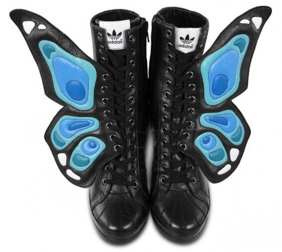 new product f7306 357dc adidas Originals by Jeremy Scott JS Wings Wedge Butterfly