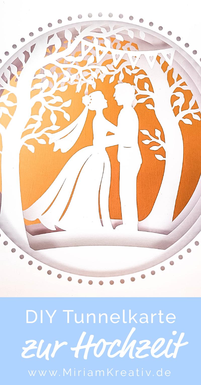 Plotterdatei Tunnelkarte Brautpaar Unter Bäumen Karte
