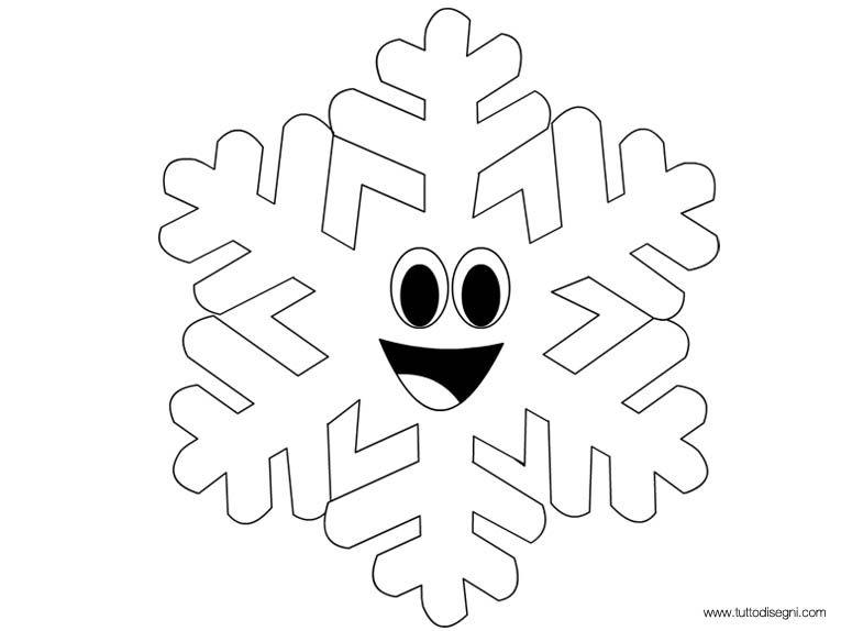 Fogli da colorare a fiocco di neve immagini da colorare for Fiocco di neve da ritagliare