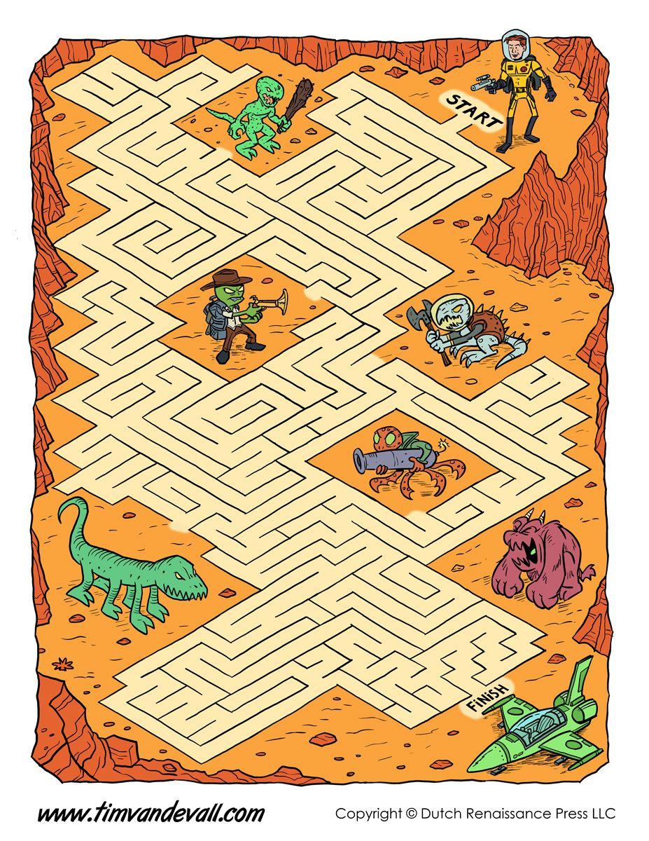 Space Maze For Kids Jpg 927 1 200 Pixlar Mazes For Kids Free Puzzles For Kids Maze [ 1200 x 927 Pixel ]