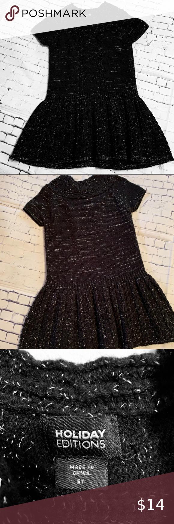 Holiday Editions Sweater Dress Size 5t Dresses Sweater Dress Kids Dresses [ 1740 x 580 Pixel ]