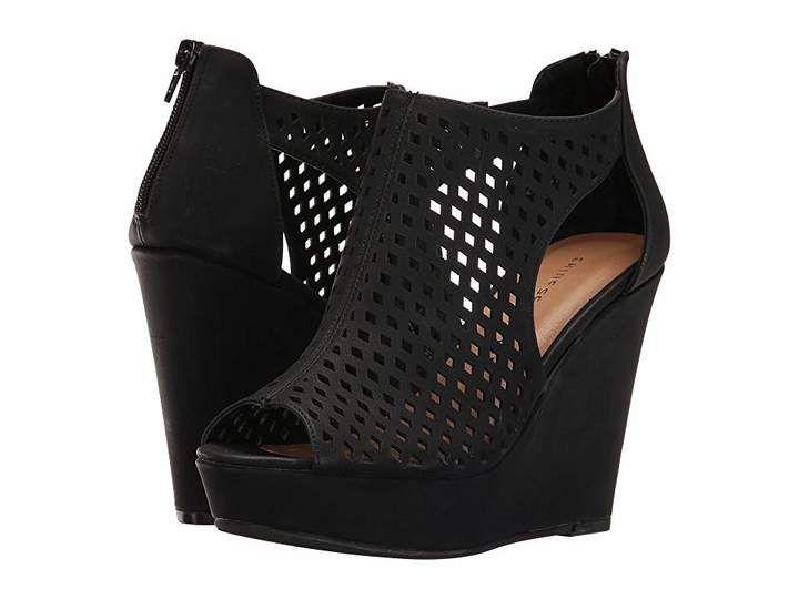 Chinese Laundry Indie Wedge Black Heels Wedges Womens Shoes Wedges