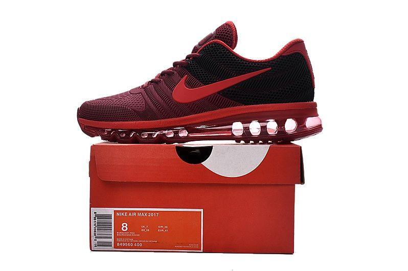 pretty nice 9d57f aae09 Nike Air Max 2017 Hombre Rojo Negro Zapatillas