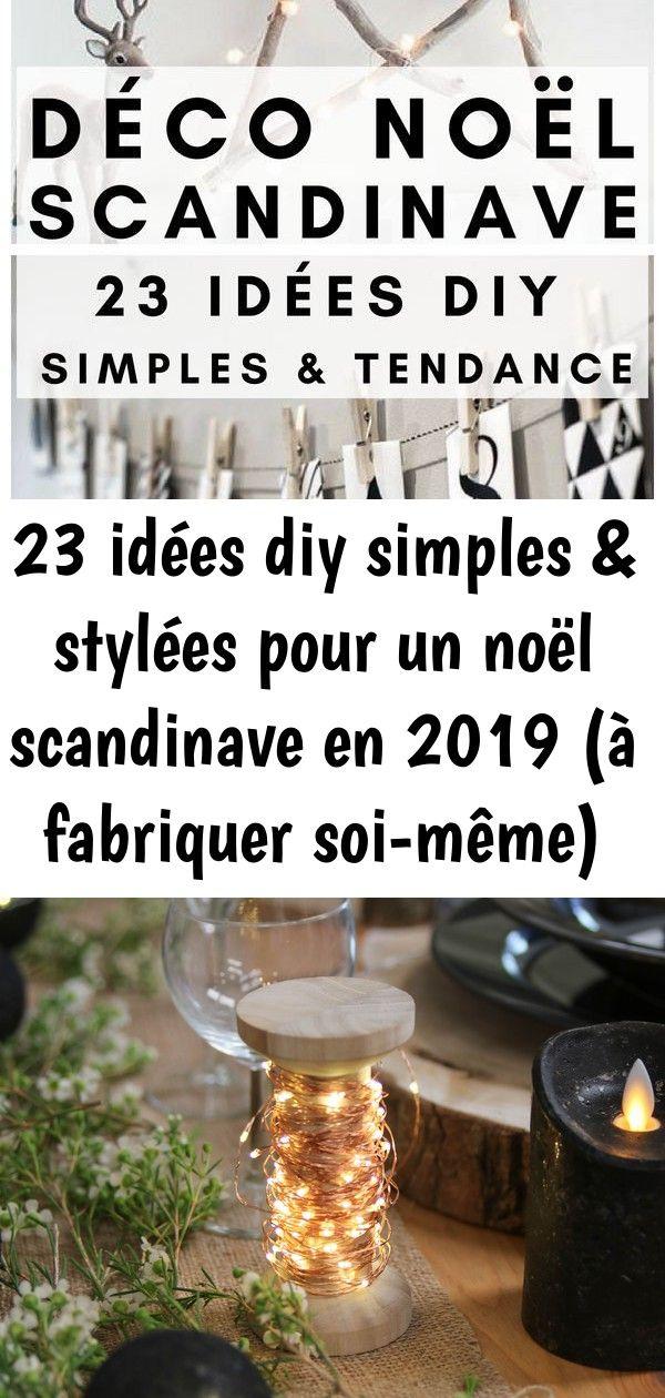 23 idées diy simples & stylées pour un noël scandinave en 2019 (à fabriquer soi-même) 37 #noel2019bricolage