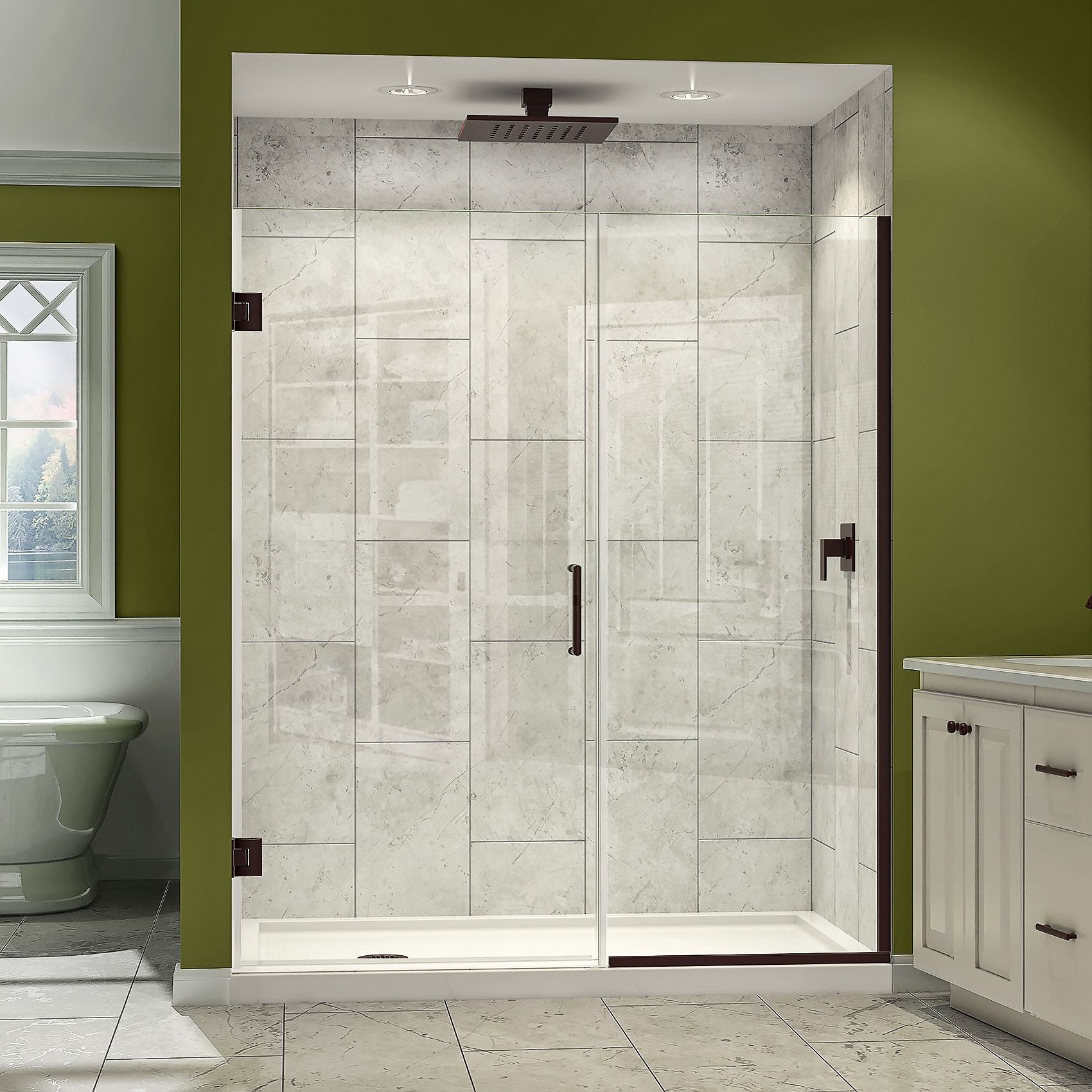 How To Break Into A Bathroom Door: We Only Have A Rain Shower Head (kind Of Like This One