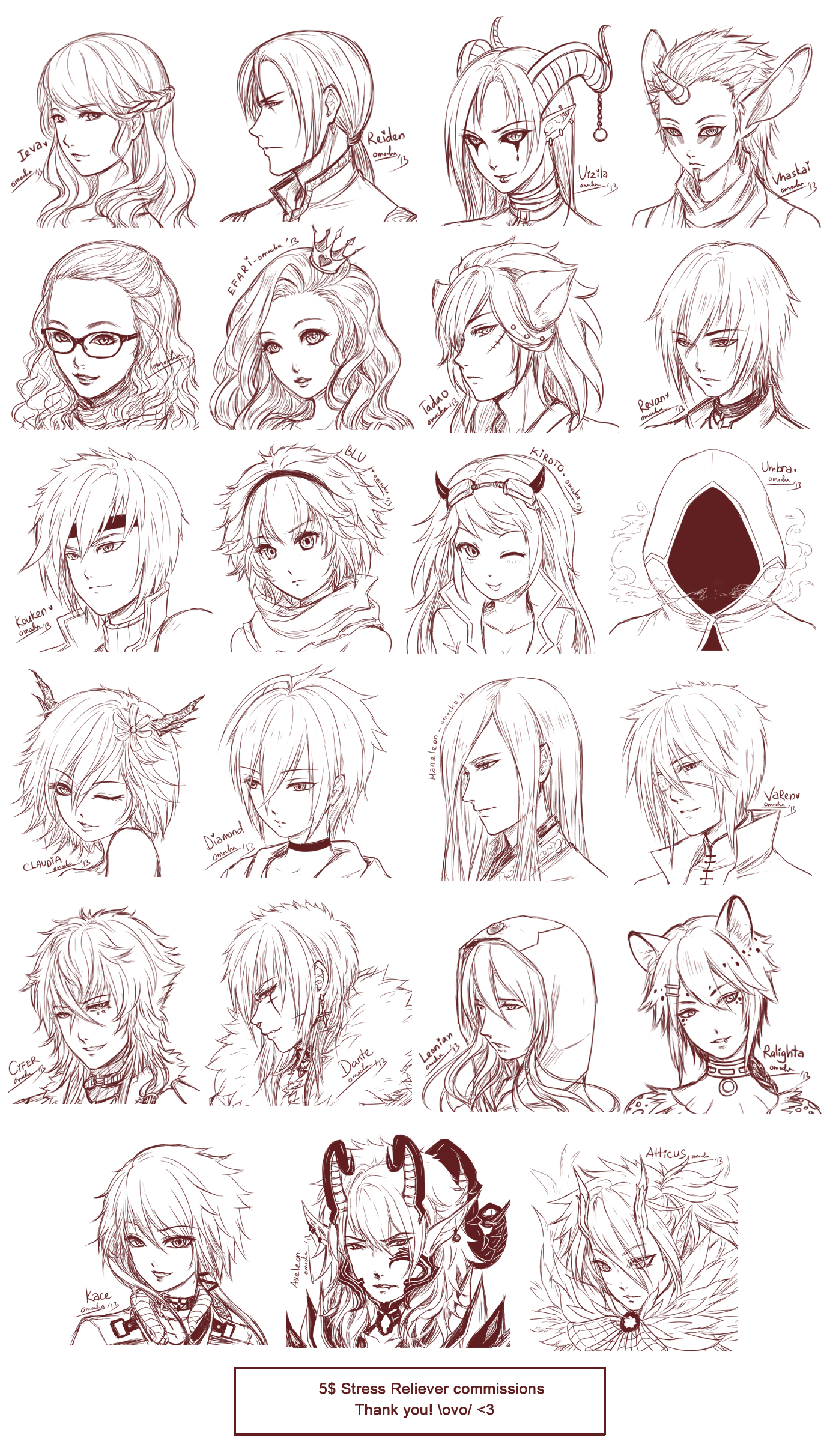 Inspiration Hair Expressions Manga Art Drawing Sketching Head