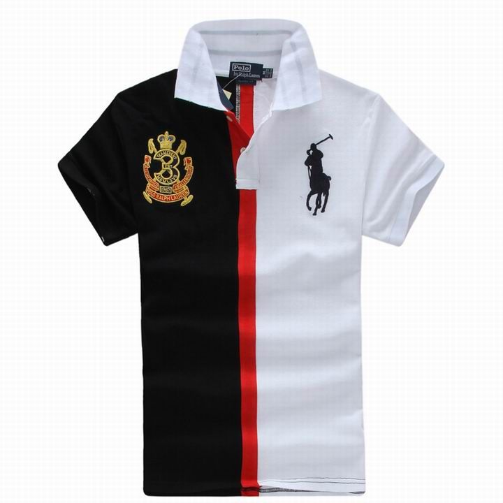 Black White-Block Stripe Polo Ralph Lauren in 2013