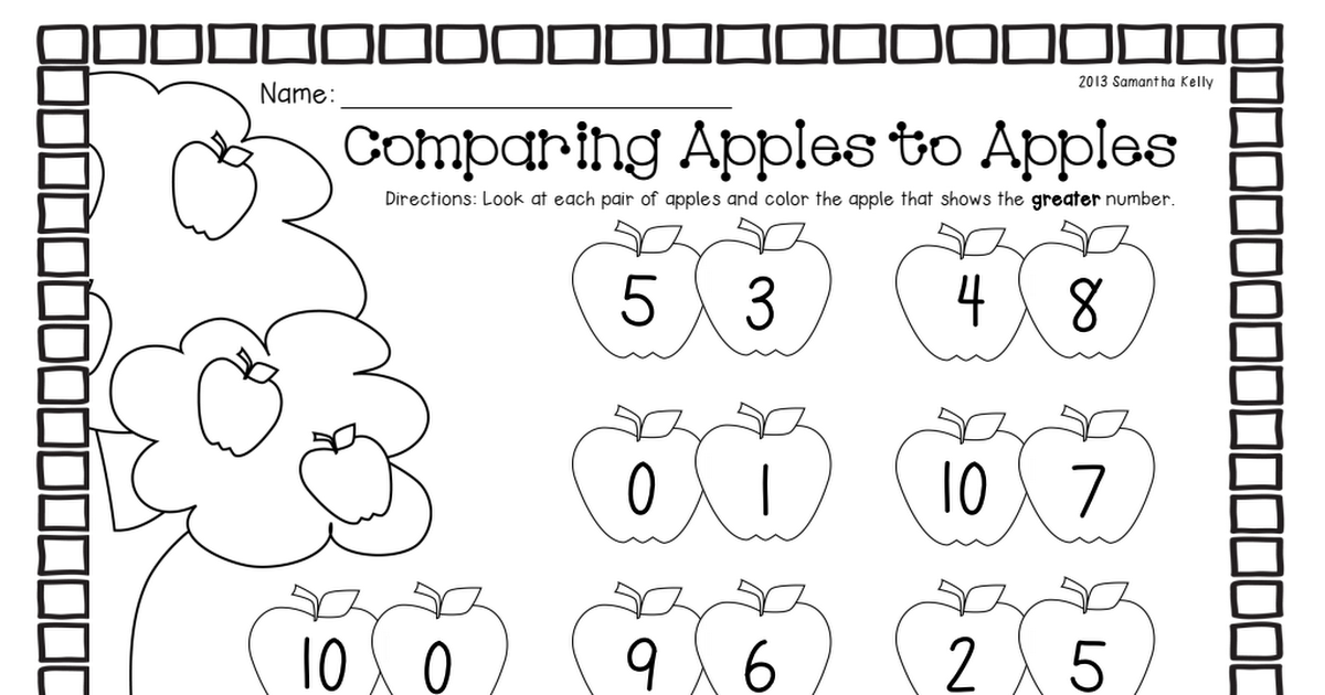 comparing apples.pdf Math strategies