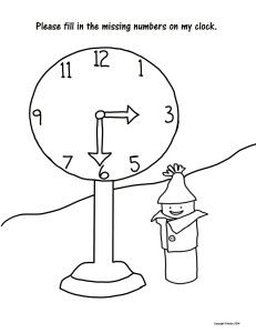 Learn the clock numbers with Percy Pobble! Free pdf on our