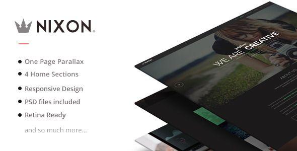 nixon responsive one page parallax template html corportate