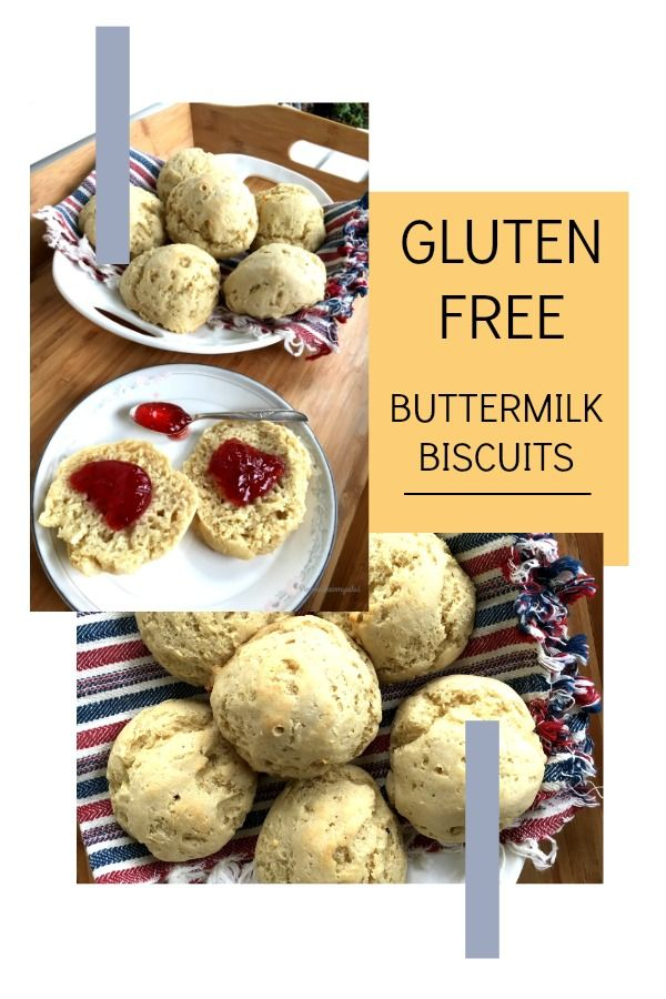 You don't have to miss out on biscuits if you're gluten free! Savory, soft and delcious. These gluten free buttermilk biscuits are quick and easy to make.  Course: Breakfast, Side Dish #glutenfreerecipes