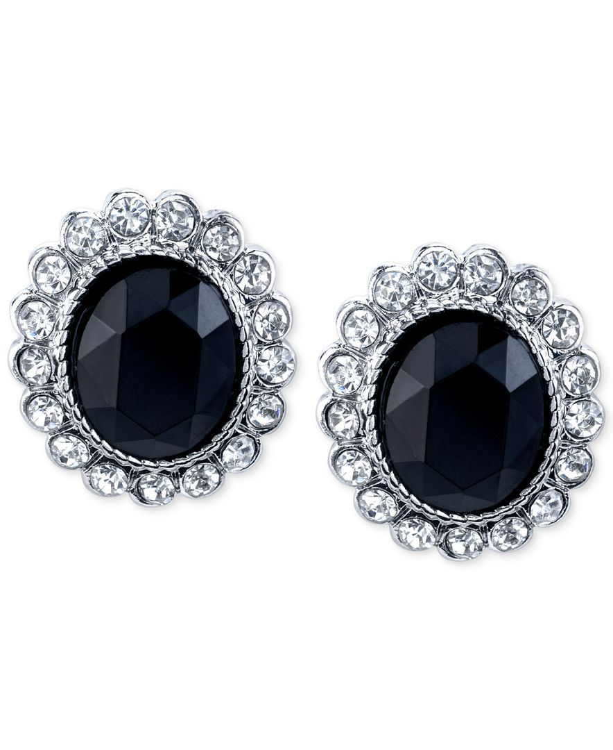 lyst pearl normal black gallery jewelry stud tory earring crystal burch in product double