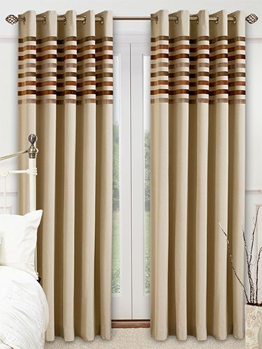 Chicago Modern Neutral Curtains From 2go