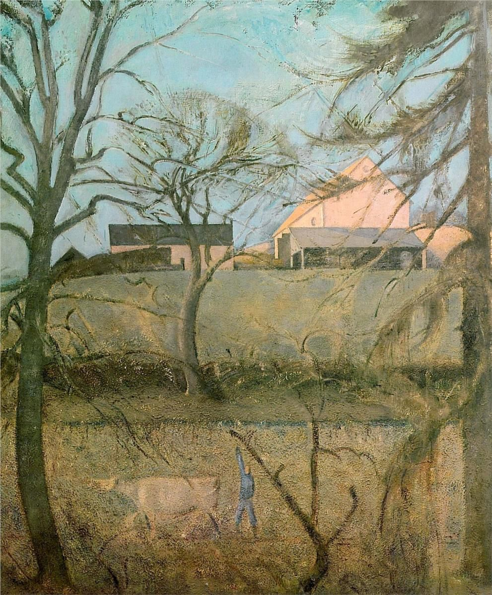 Big Landscape with Cow - Balthus - WikiPaintings.org