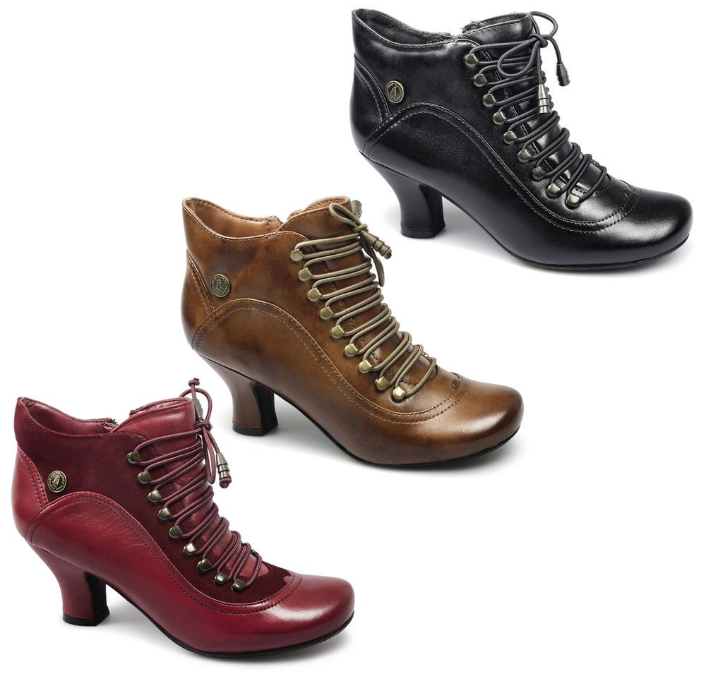 good selling best quality footwear Details about Womens Hush Puppies Vivianna Heeled Victorian ...