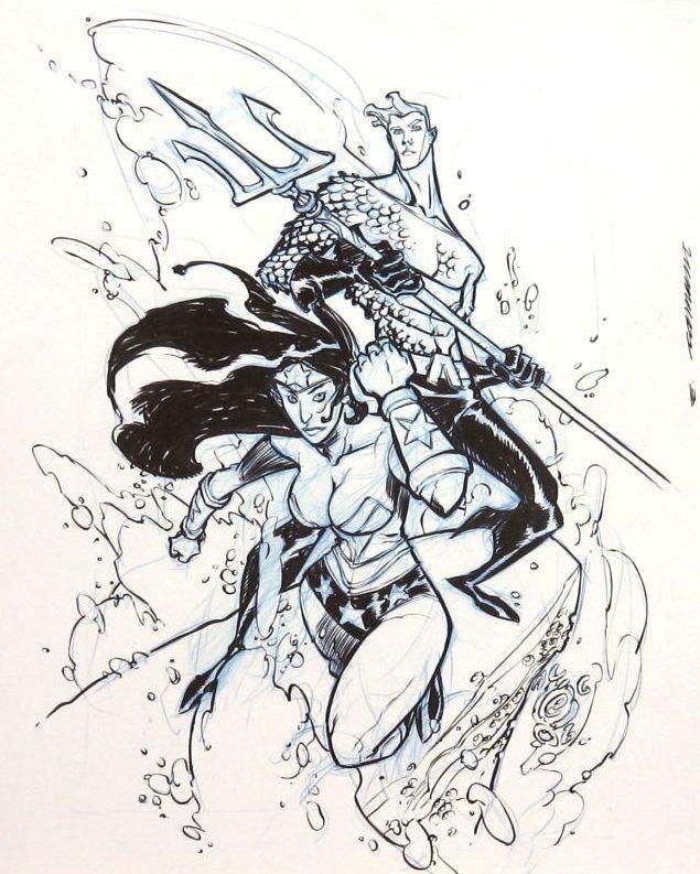 I MIEI SOGNI D'ANARCHIA - Calabria Anarchica: Canete - Wonder Woman & Aquaman  Artist: Eric Cane...