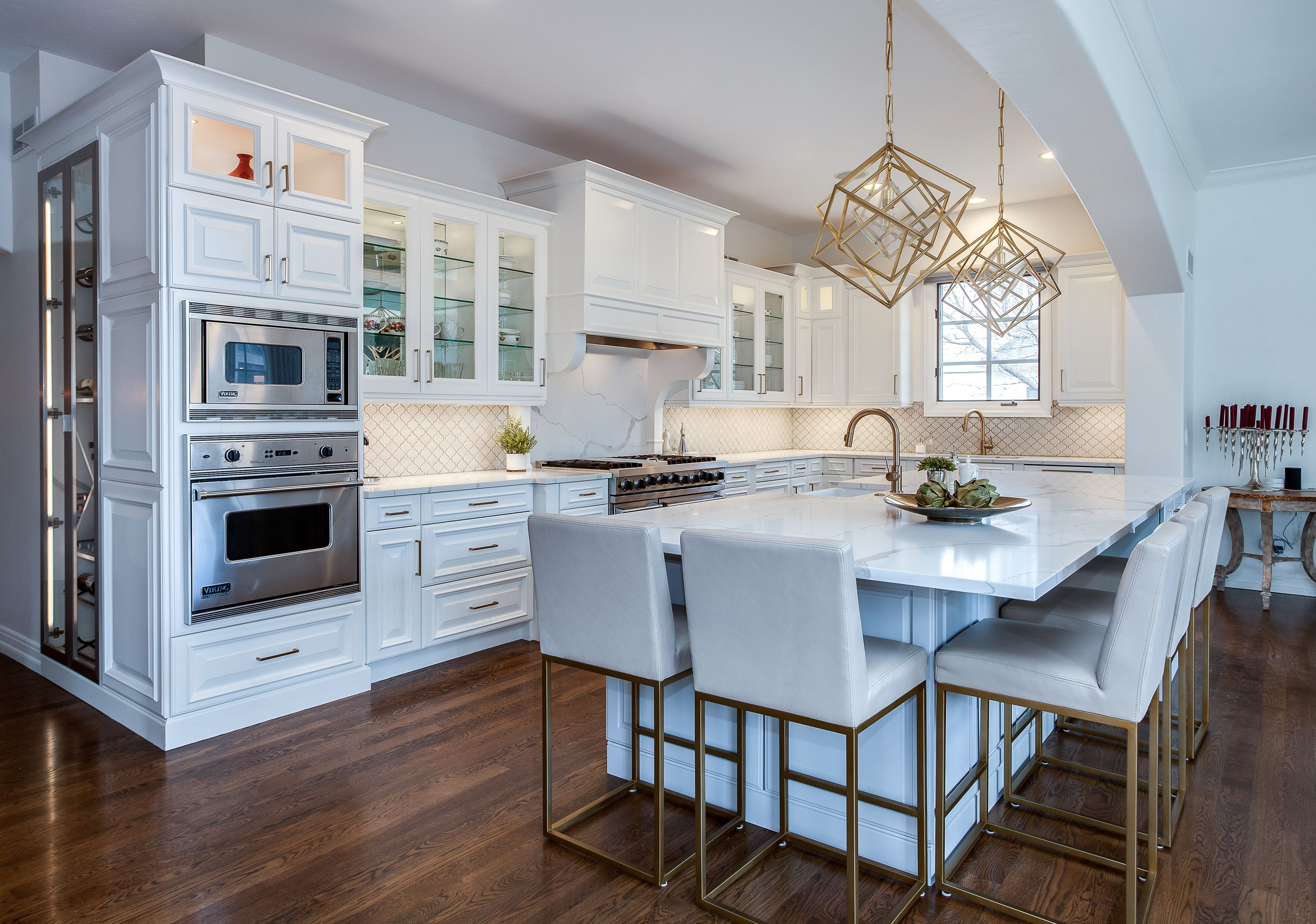Cherry Hills Kitchen Remodel White Painted Cabinets Traditional Kitchen Remodel Oak Kitchen Remodel Kitchen Remodel