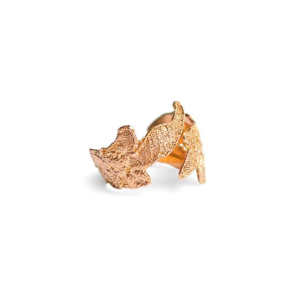 £667, Pure 18k Red Gold Red gold lace ring | Bijoux Coquette