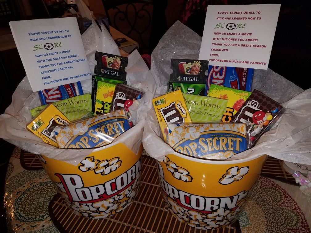 Soccer Coach Gift Basket Idea With Images Cheer Coach Gifts Teacher Appreciation Gift