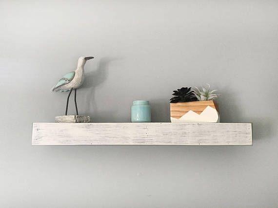 Whitewashed Floating Shelves Reclaimed Wood Custom Size