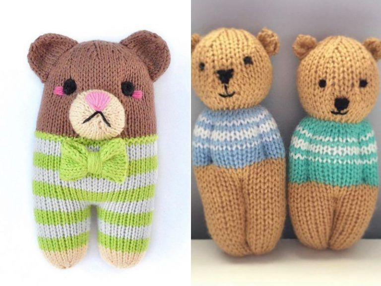 Easy Knitted Teddy Bears Free Patterns | Knitted teddy ...