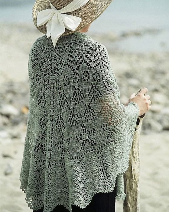 Shell lace shawl knitting pattern knit lace scarves and shawls fiber trends seascape shawl knitting pattern i crochet world dt1010fo